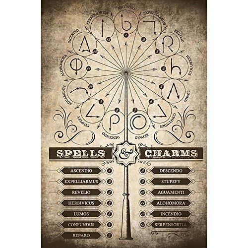 Grupo Erik - Póster Harry Potter Spells & Charms, 61X91,5 CM