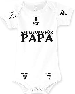 Spruchreif24de Baby Body Strampler Anleitung für Papa Geburt Geschenk