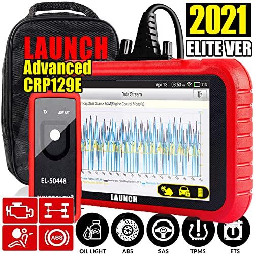 LAUNCH OBD2 Scanner CRP129E 2021Elite Ver Engine/ABS/SRS/TCM Scan Tool Reset Oil...