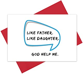 Like Father Like Daughter Card, Funny Father's Day Card from Daughter, Joke Birthday Card for Dad