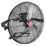 OEMTOOLS 24895 17.99 Inch High-Velocity Wall Mount Fan, Indoor/Outdoor Patio Fan, Black Fan
