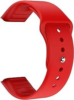 SmartWatch Strap Horlogeband Waterdichte Siliconen Vervanging Sportriemen Polsband Smart Watch Accessoires (Color : Red)