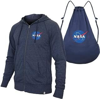 ComputerGear NASA Zip Hoodie Back Pack Sweatshirt Turns Into Backpack Men Women