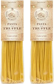 Morelli Italian Pasta Truffle Tagliolini Wheat Germ, Tagliolini Tartufo, 100% Handmade In Italy All Natural 8.8 Ounce / 250g (2 pack)