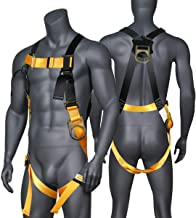 JINGYAT 3 D-Ring Full Body Safety Harness Fall Protection,Universal Personal Protective Equipment (130-310 pound),Construc...