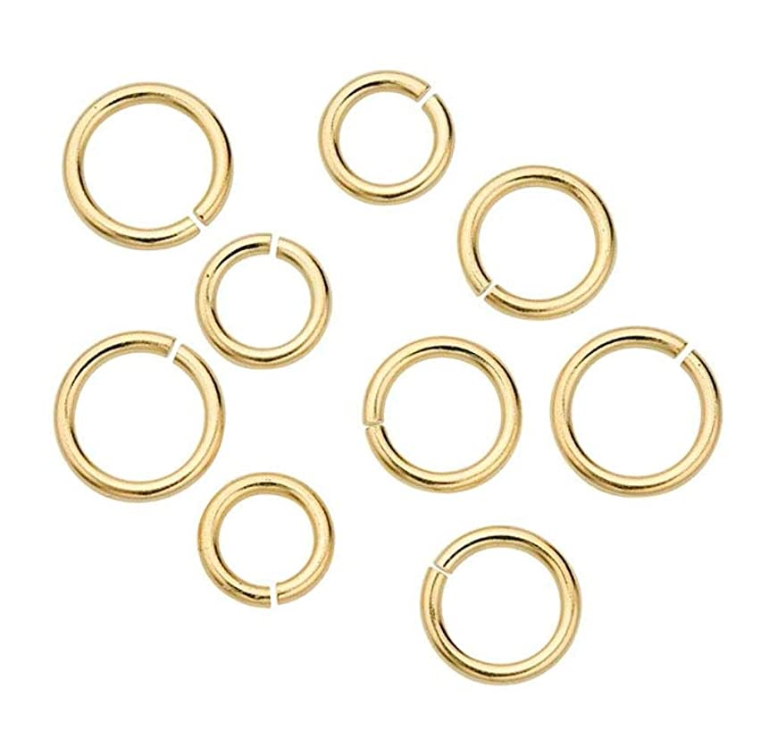 200pcs 4mm Top Quality Open Jump Rings (Wire~0.7mm) 14k Gold Plated Brass for Jewelry Craft Making CF84-4