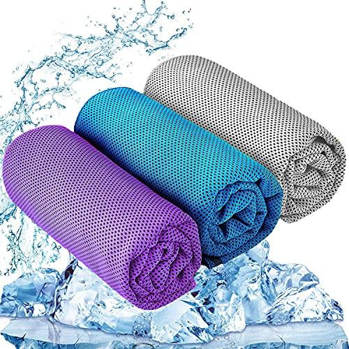 YQXCC 3 Pcs Cooling Towel (47'x12') Cool Cold Towel for Neck,...