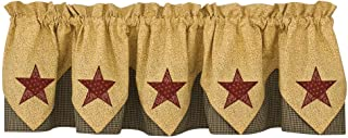 Park Designs Country Star Lined Point Valance, 72 x 15