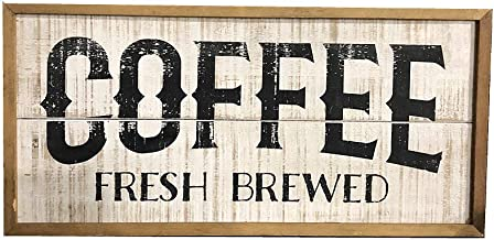 Parisloft Wood Coffee Signs Rustic Farmhouse Decorative Coffee Sign Plaque Wall Hanging Decor for Kitchen,Coffee Plaque for Restaurant,Shop,Coffee Bar 23''x1'x11''