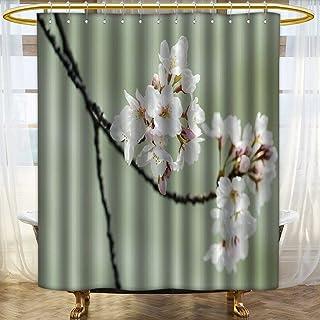 aolankaili Waterproof Fabric Bathroom Décor Osaka,Japan March,Cherry Blossom in Spring,Osaka. for Bathroom Mildew Resistant Anti-Bacterial /W36 x L72