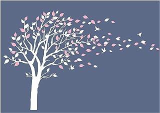 Sticker mural par BDECOLL,vinyle motif arbre à cœurs pour chambres d'enfants et décoration maison/Décoration murale en fle...