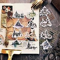 12ピース/バッグヴィンテージゴシック建築ステッカーDIYクラフトスクラップブッキングアルバムジャンクジャーナルプランナー装飾ステッカー