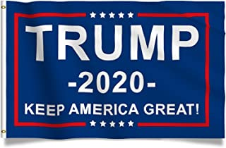 Kaiyuan Dynasty Trump Flag Blue Donald Trump Flags Support for President 2020 Banner- Keep America Great 3 x 5 feet with Two Brass Grommets