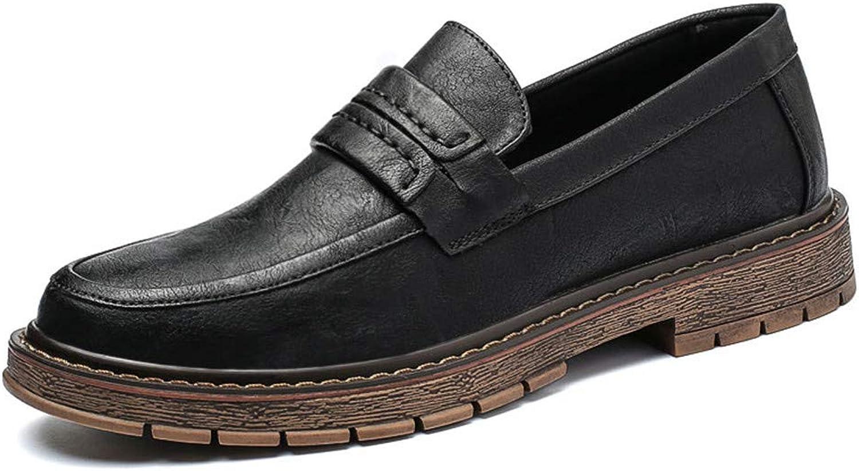 skor män ny herrar Business Oxford Casual Classic Soft Soft Soft Outole with One Foot Pedal Formal skor s (färg  svart, Storlek  8 D (M) US)  Beställ nu njut av stor rabatt