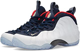 6c4800e42ce86 NIKE Mens Air Foamposite One PRM Olympic Obsidian White Synthetic