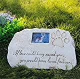 Re-Call Pet Tombstone Dog or Cat Memorial Stone Personalized with...