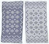 Bersuse Toalla turca Teotihuacan 100% algodón, Azul Oscuro, 37x70 Pulgadas