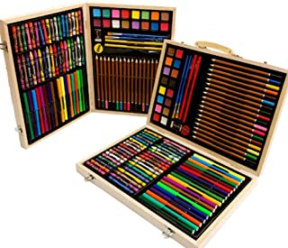 118Pcs Children Art Drawing Set with Clip-On Hand Carry Case, Painting Crayon Box Set for Colouring, Painting and Drawing...