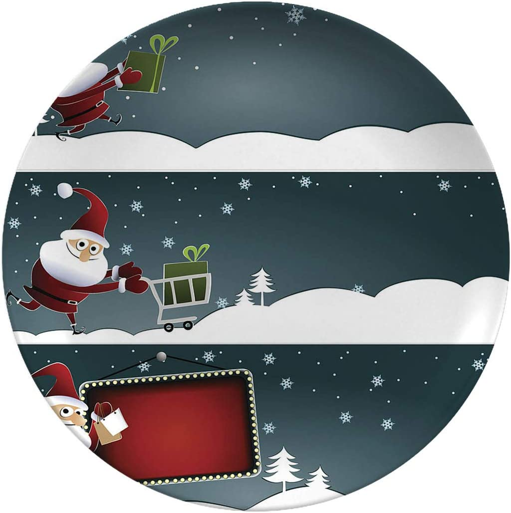Christmas Art Gorgeous Ceramic Dinner Banners Plates Santa With Max 59% OFF
