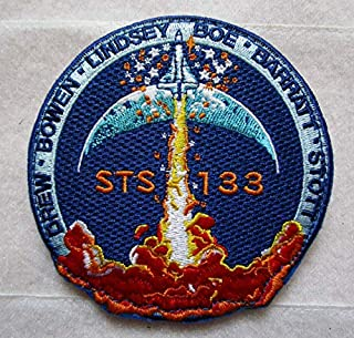 STS-133 NASA Mission 3D Tactical Military Badges Embroidered Patch Back with Loops and Hook