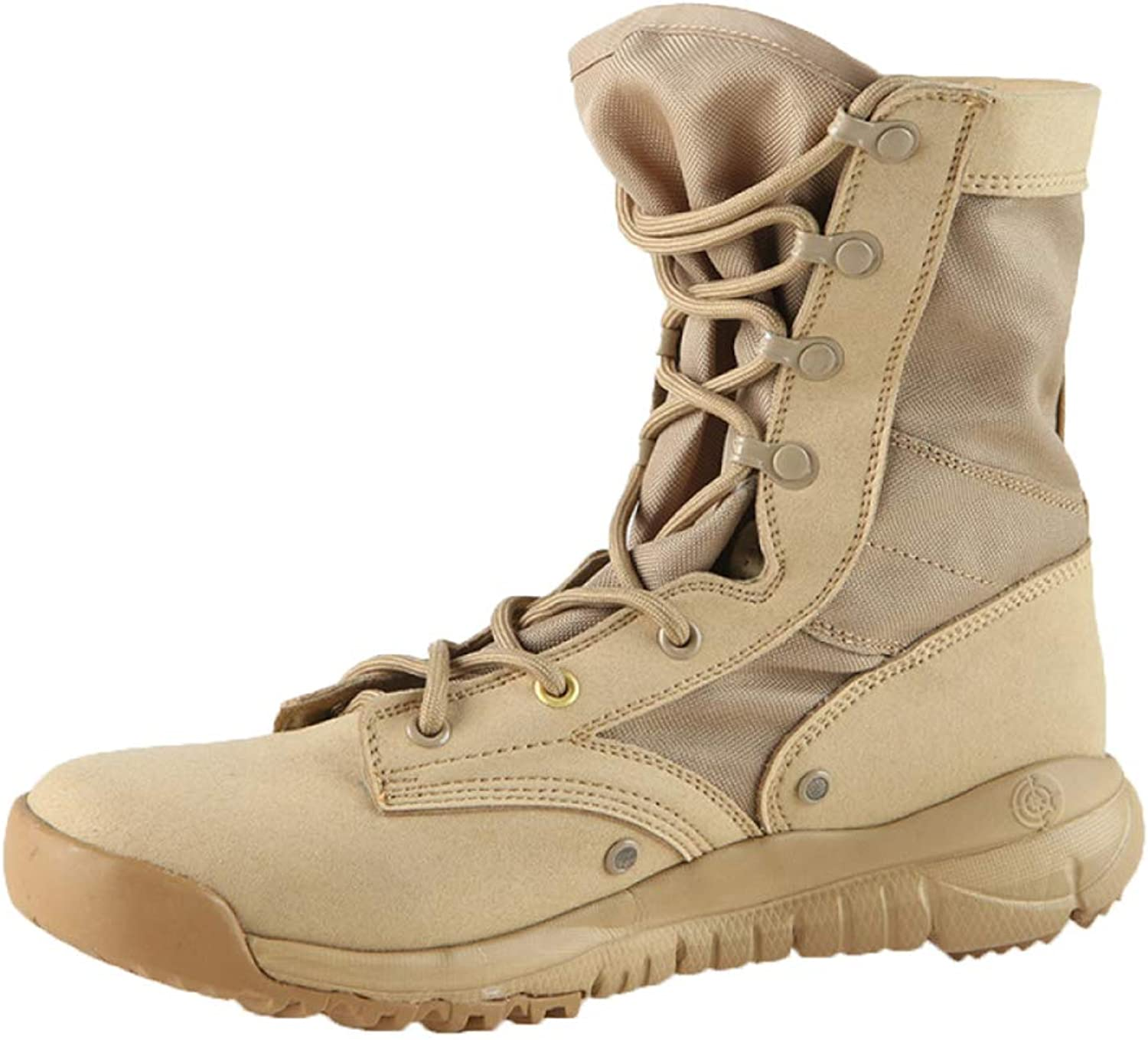 Snfgoij Tactical Military Boots Men Sand Hiking Breathable Lightweight High Gang Desert Boots in Summer Combat Boots