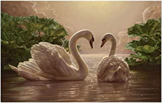 JCCOZ-URG Love Swans Puzzle for Adults Kids Wooden Adult Leisure Relieves Stress (300-1500/2000/3000 Piece (Size : 3000pcs...