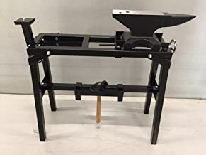 Industrial Machinery Blacksmith Anvil Vise Base Stand with built-in Tool holder