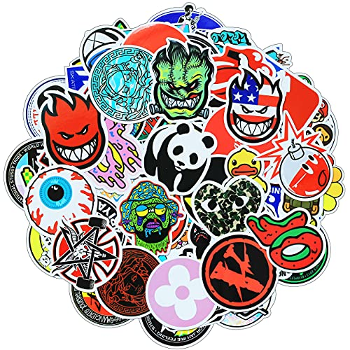 Stickers 100 Pcs / Pack for Skateboard Laptop Computer Car Bumper Helmet Scooter Water Bottles Cool Waterproof Stickers Decals Fashion Vinyl Graffiti Stickers Bomb for Adults Teens Guitar Phone