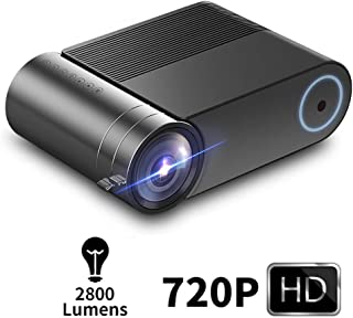 Mini Projector, Home Led Video Projector, Perfect Private Theater, 720P Resolution Support 1080P, 140 Inch Large Screen, H...