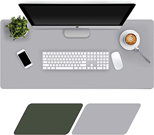 Levoit Desk Mat Large 90x40cm, Double-Sided Desk Pad, PU Leather Gaming Mouse Pad for PC Laptop, Waterproof Mouse Key...
