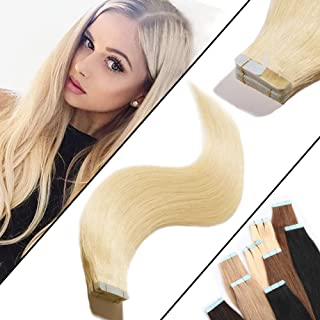 blonde tape in human hair extensions