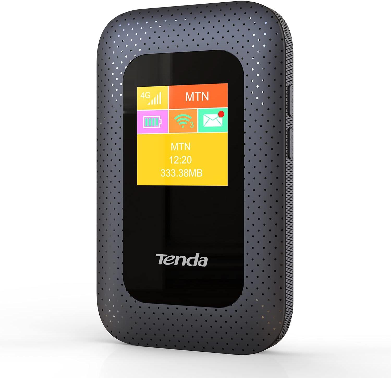 Tenda 4G185 V2.0, 4g Router Móvil de Punto de Acceso Portátil, Batería de 2100 mAh, 4G LTE Cat4 150 Mbps, No se Requiere Configuración, Pantalla a Color