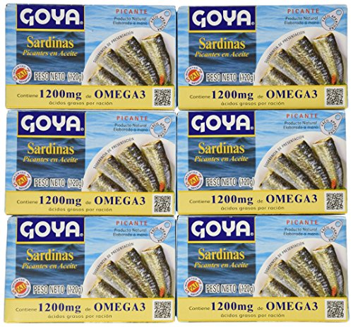 Goya Spiced Sardines in Oil, 4.25 Ounce (Pack of 25)
