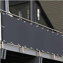 Huishek Balkon Tuin Privacy Tuin Windscherm Hek 350g/㎡, Met Installatietouw Schaduw, Winddicht, Verkoelend, Stormvast (Col...