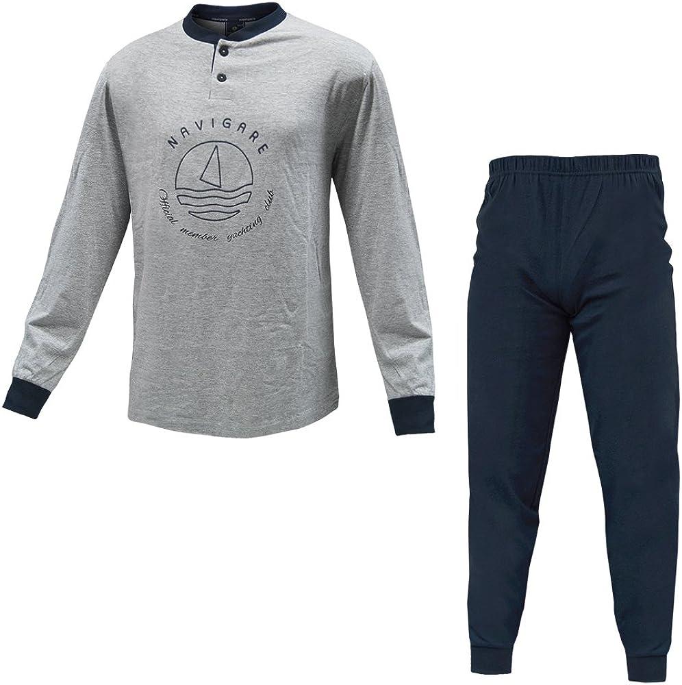 Navigare, pigiama per uomo,in  cotone jersey 140584