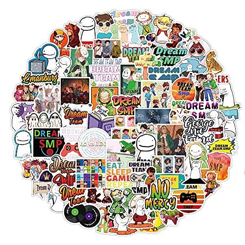 Dheckbluesky 100 Stück Aufkleber, Aufkleber Dream SMP, Wasserdicht Vinyl Stickers Decals für Fahrrad Motorrad Graffiti Skateboard Laptop Computer Kofferraum, Jungen und Madchen