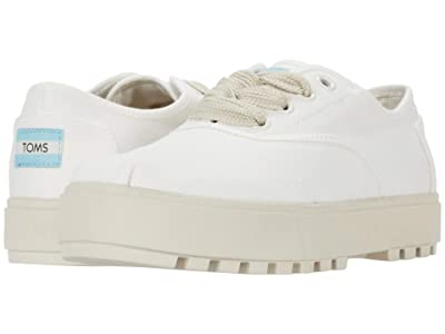TOMS Cordones Lug Sneaker (White Canvas) Women