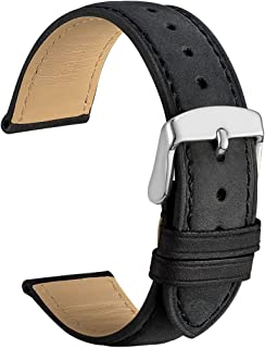 WOCCI Watch Band - Vintage Leather Watch Strap, Choice of Color and Width (14mm,18mm,19mm,20mm,21mm or 22mm)