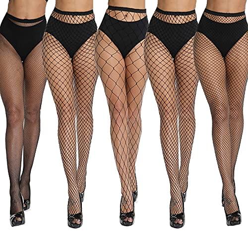 akiido Fishnet Stockings Fishnet Tights Thigh High Stockings Pantyhose High Waist Tights