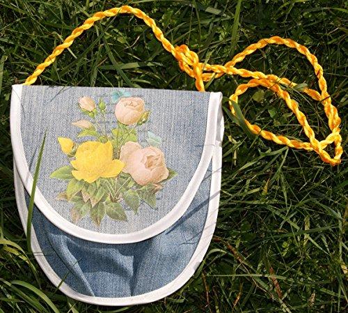Dirndl-Tasche mit gelb-rosa Rosen