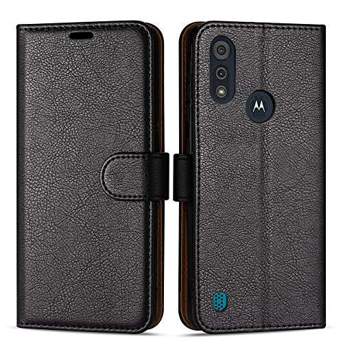 Hülle Collection Hochwertige Leder hülle für Motorola Moto E6s Hülle (6,1