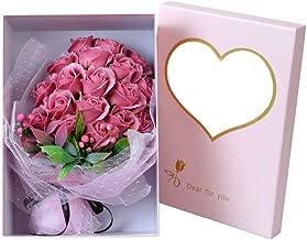 Scrafts Light Purple 19 Scented Bath Soap Rose Petals Net Bouquet Gift Box Set