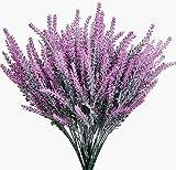 6 Pcs Flores Artificiales de Lavanda Flores Falsas de Lavanda Flocado Planta de Lavanda Artificial Flores Artificiales para Decoracíon de Casa Hogar Oficina (Rojo)