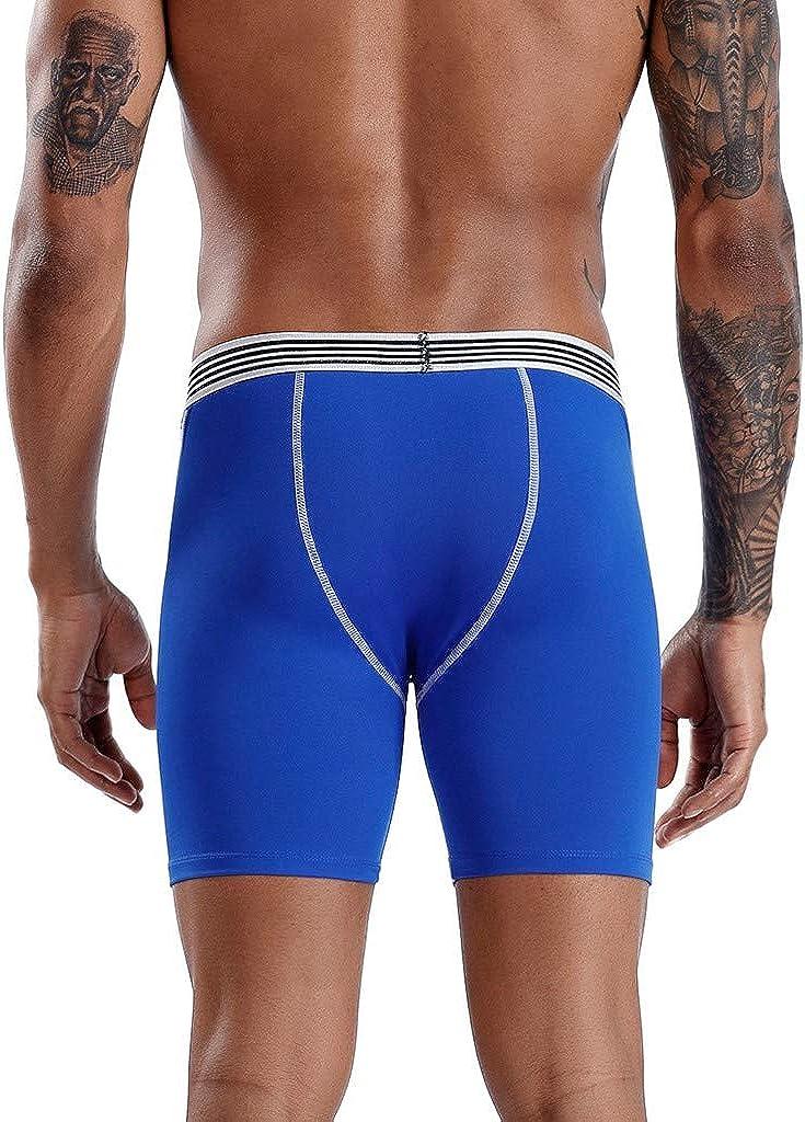 MODOQO Men's Underwear Stretch Boxer Briefs Long Breathable Regular Fit Comfortable Underpants