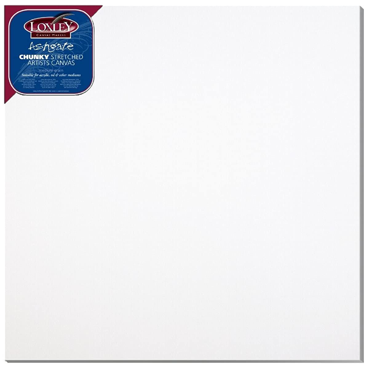 Loxley 40 x 40-inch Deep 36 mm Edge Ashgate Chunky Stretched Artists Canvas, White by Loxley