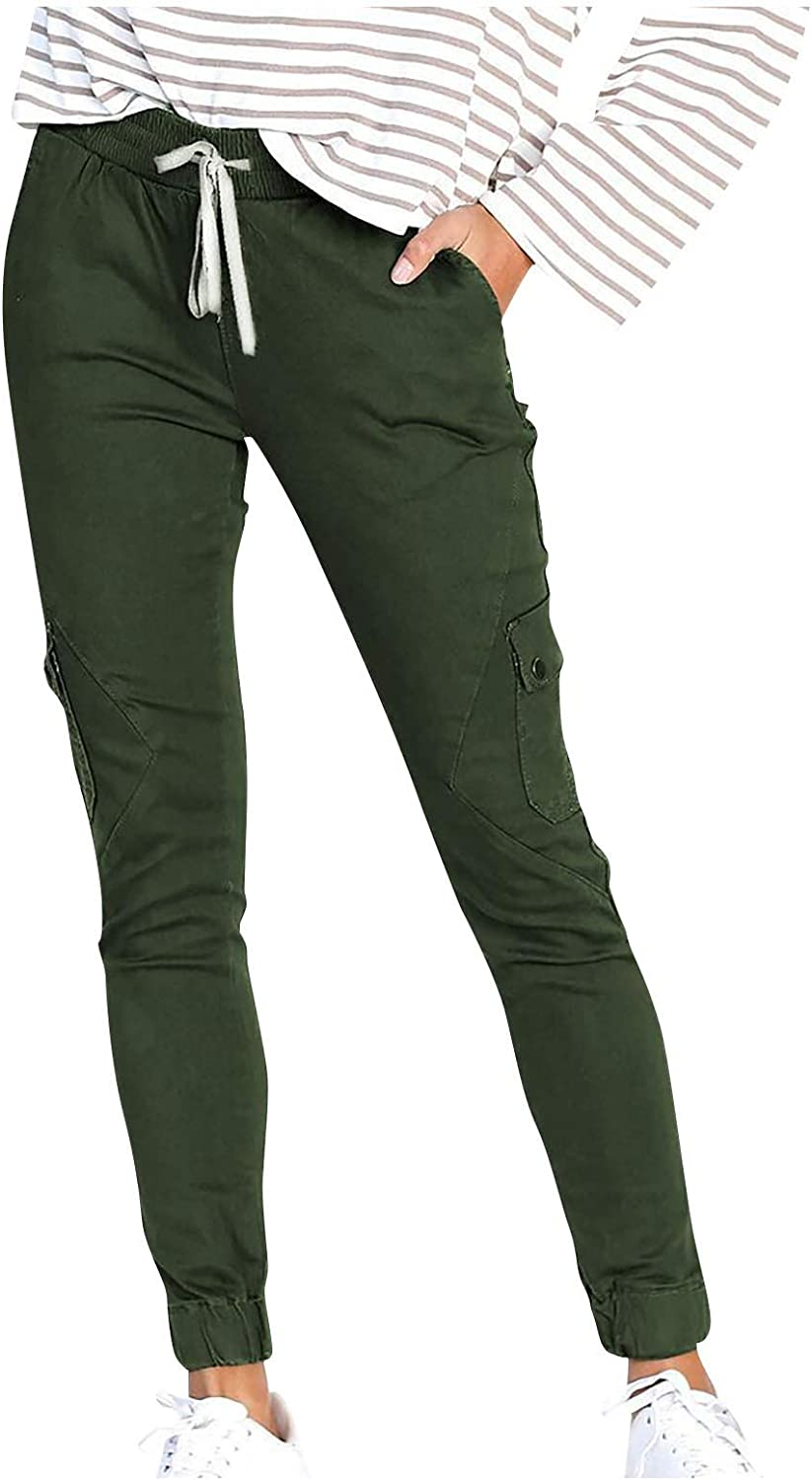 Women's New item Multi-pocket Shrinkage Casual Waisted Legging OFFicial mail order Pants High
