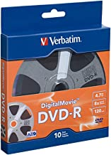 Verbatim DVD-R 4.7GB 8X - DigitalMovie Surface - 10pk Bulk Box