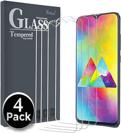Ferilinso Cristal Templado para Samsung Galaxy M20 / Galaxy M10 / Galaxy A10, [4 Pack] Protector de Pantalla Screen Protector con garantía de reemplazo de por Vida