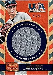 2013 Panini America's Pastime USA Baseball Gold Skye Bolt RC Jersey 22/25
