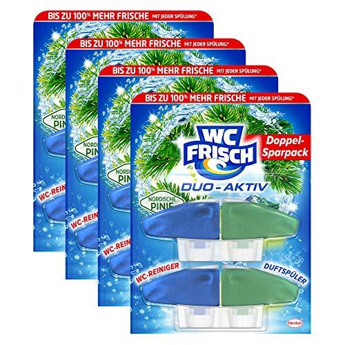 WC FRISCH Duo-Aktiv Nordische Pinie, Nachfüllpack, 8 (4 x 2) Stück, WC-Reiniger und Duftspüler